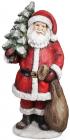 """Новогодняя декоративная фигура """"Санта с елкой"""" 80см с LED-подсветкой"""