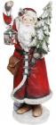 """Фігура декоративна """"Санта з ялинкою і ліхтариком"""" 98см з LED-підсвіткою, червоний"""