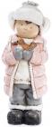 """Декоративная фигура """"Мальчик с птичкой"""" в розовой куртке 52.5см"""