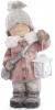 """Декоративная фигура """"Девочка с фонариком"""" 40см, в розовой шубке"""