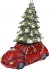 """Новорічний декор """"Автомобіль з ялинкою"""" 49см з LED-підсвіткою"""