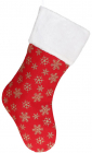 """Носок для подарунків """"Сніжинки"""" 49см, червоний з золотом"""