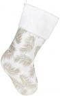 """Носок для подарков """"Хвоя"""" 49см, белый с золотом"""