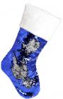 """Носок для подарков """"Полярная ночь"""" 49см, с пайетками"""