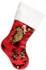 """Носок для подарков """"Рубин"""" 49см, с пайетками"""