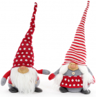"""Набір 2 новорічні м'які іграшки """"Домовий"""" 22х16х52см"""