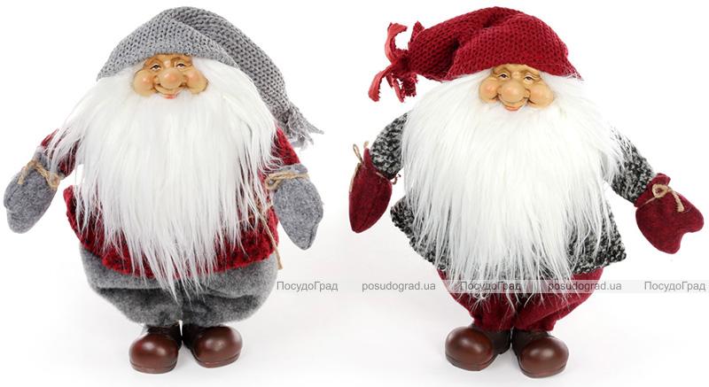 """Новорічна м'яка іграшка """"Добрий Санта"""" 36х16х34см"""