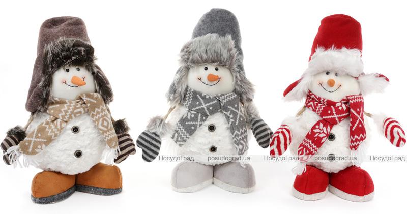 """Мягкая игрушка """"Веселый Снеговик в шапке"""" 37см"""