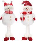 """Новогодняя мягкая игрушка """"Веселый снеговик"""" 62см"""