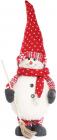 """М'яка новорічна іграшка """"Сніговик з мітлою"""" 65см"""