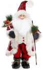 "Новогодняя мягкая игрушка ""Санта с гостинцами"" 45х28х90см"