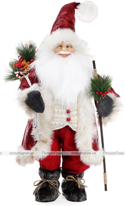 """Новорічна м'яка іграшка """"Санта з гостинцями"""" 45х28х90см"""