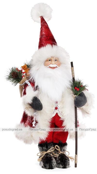 "Новогодняя мягкая игрушка ""Санта с гостинцами"" 32х20х60см"