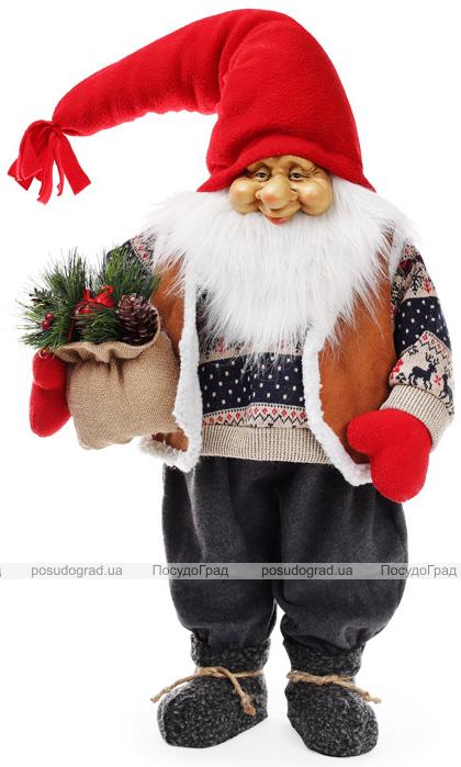 "Новогодняя мягкая игрушка ""Санта в свитере"" 40х23х95см"