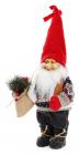 "Новогодняя мягкая игрушка ""Санта в свитере"" 22х15х45см"