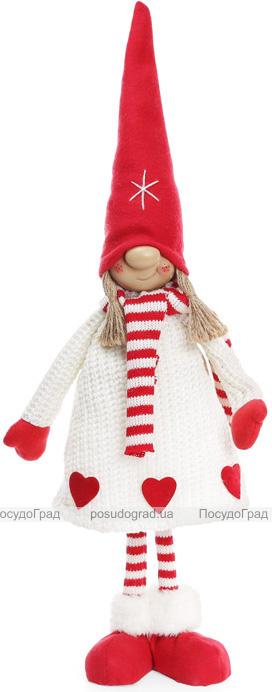 """Мягкая игрушка """"Девочка в красном колпаке и в белой шубке"""" 58см"""