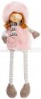 """Новорічна м'яка іграшка """"Дівчинка в рожевій шубці"""" 20х12х54см"""
