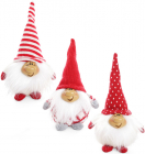 """Новогодняя мягкая игрушка """"Счастливый Санта"""" 17см"""
