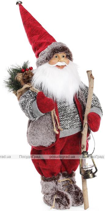 """Новогодняя мягкая игрушка """"Санта с фонарем"""" 60см"""