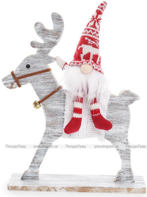 """Новогодняя игрушка """"Санта на Олене"""" 21х6х29см"""