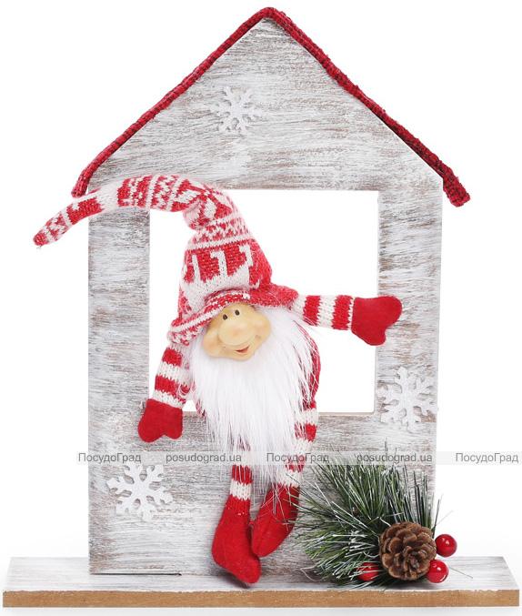 """Новогодняя игрушка """"Санта в окошке"""" 22х6х29см"""