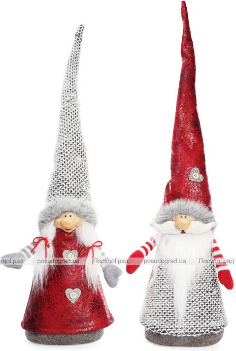 """Декоративная текстильная фигурка-игрушка """"Новогодние Гномы"""" 70см"""