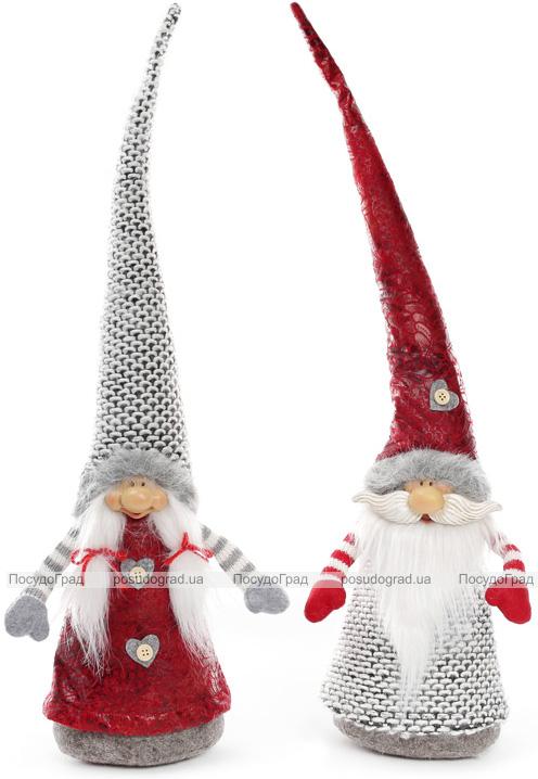 """Декоративная текстильная фигурка-игрушка """"Новогодние Гномы"""" 55см"""