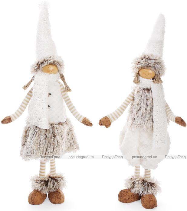 """Новогодняя мягкая игрушка """"Детишки в белом"""" 50см"""