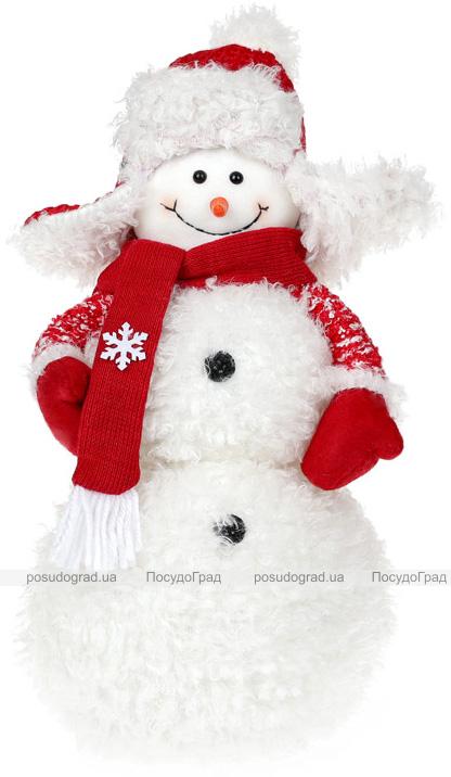 """Мягкая игрушка """"Снеговик в шапке-ушанке"""" 33см"""