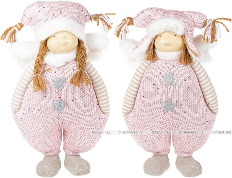 """Набор 2 мягких игрушки """"Девочка в розовом комбинезоне"""" 35см"""