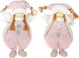 """Набір 2 м'яких іграшки """"Дівчинка в рожевому комбінезоні"""" 29см"""