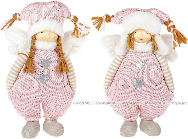 """Набор 2 мягких игрушки """"Девочка в розовом комбинезоне"""" 29см"""