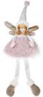 """Мягкая игрушка """"Девочка в розовой юбочке"""" 58см, сидячая"""