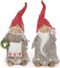 """Набір 2 декоративні фігурки """"Різдвяні Гноми"""" 29см"""