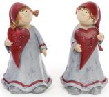 """Фігурка декоративна """"Дівчинка з серцем"""" 19см"""