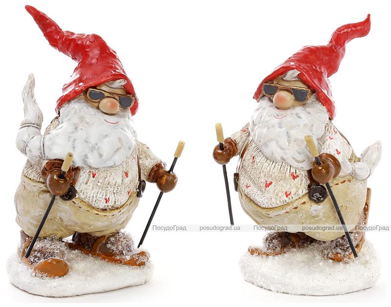 "Декоративна фігурка ""Санта-лижник"" 7х6х13.5см"