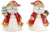 """Набір 2 фігурки """"Санта золотий"""" 11х8х14см"""