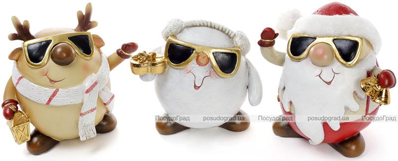 """Набір 3 фігурки-скарбнички """"Новорічні персонажі"""" 18х14х17см"""