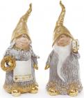"""Набор 2 декоративных фигурки """"Гномы в золотом"""" 29см"""