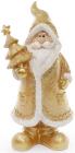 """Фігурка декоративна """"Санта Клаус в золотому з ялинкою"""" 22.5см"""