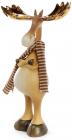 """Декоративная фигурка """"Лось с золотыми рогами"""" 15.5х7.5х27.5см"""