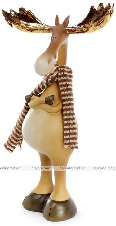 """Декоративна фігурка """"Лось з золотими рогами"""" 15.5х7.5х27.5см"""