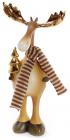 """Декоративная фигурка """"Лось с золотыми рогами"""" 11.5х6х21.5см"""