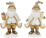 """Декоративна фігурка """"Санта Клаус в золоті"""" 13х9х20см"""