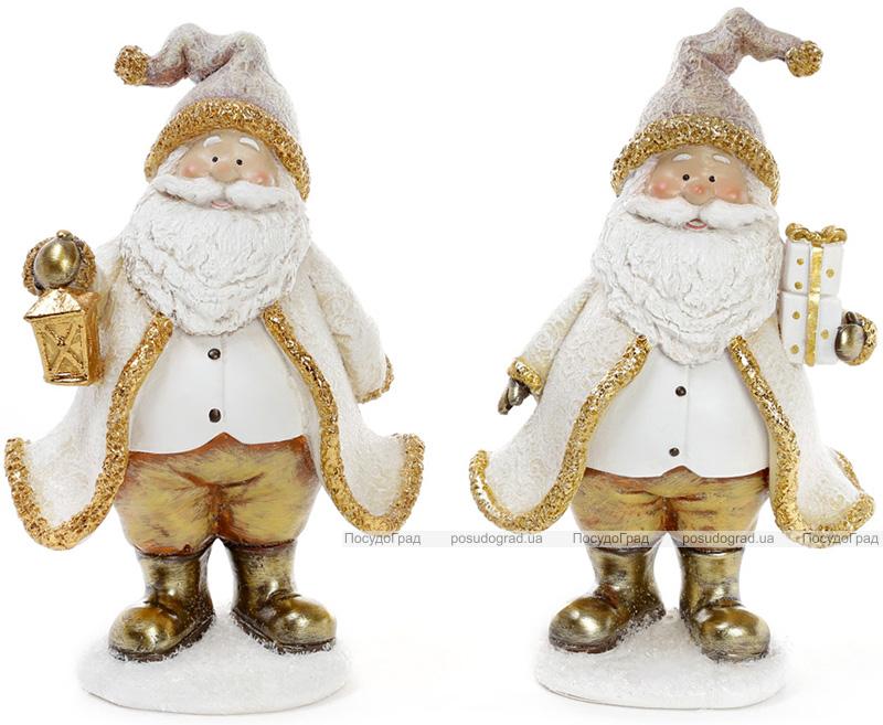 """Декоративная фигурка """"Санта Клаус в золоте"""" 13х9х20см"""