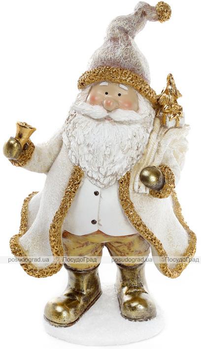 """Декоративная фигурка """"Санта Клаус в золоте"""" 17.5х14х29.5см"""