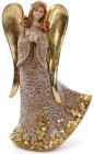 """Декоративна фігурка """"Золотий ангел"""" 14х9х28см"""