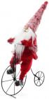 """Декоративна фігура """"Санта на велосипеді"""" 40.5х17х66см"""
