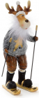 """Декоративна фігурка """"Олень на лижах"""" 8х6.5х18.5см"""