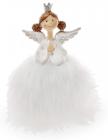 """Декоративна фігурка """"Принцеса в пишному білому платті"""" 16см"""